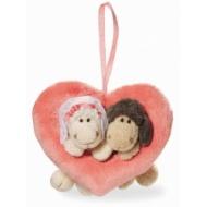 Zawieszka serduszko z owieczkami Married